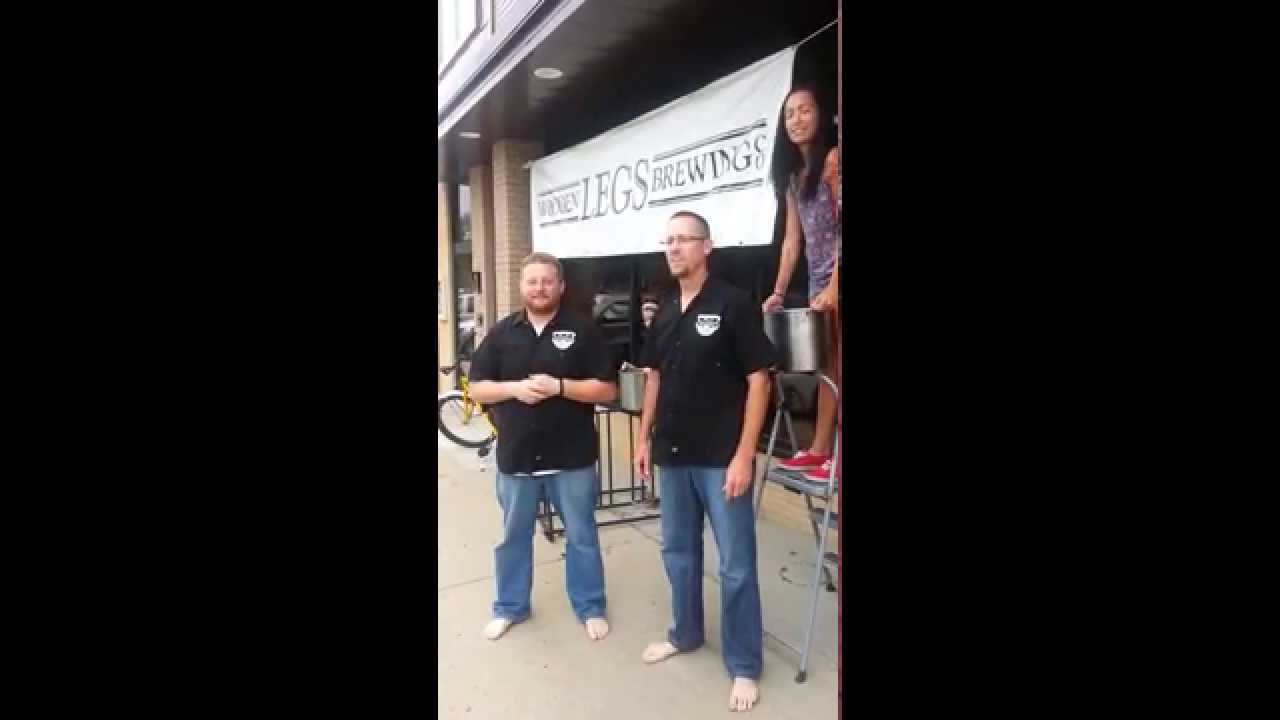 The Owners Of Wooden Legs Brewing Company Accept The Als Ice Bucket Challenge