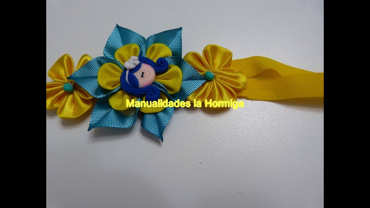 Como hacer lazos para ni as flores de liston how to make a hair bow youtube - Lazos con cintas ...