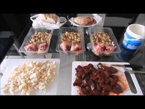 Alaskan Malamute raw food for the week