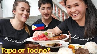 CANADIANS TRY FILIPINO BREAKFAST FOOD (Tapa, Tocino, Danggit, Vigan Longganisa, Tinapang Galunggong)