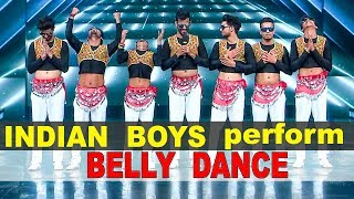 INDIAN FIRST BELLY Boys Dance Group on TV Show | Chikni chameli | Goggle Gang | DANCE + 4