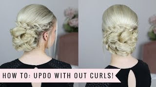 How to: Up do without curls!😱 By SweetHearts Hair