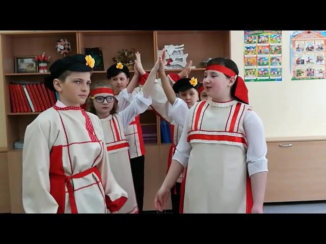 Изображение предпросмотра прочтения – «учащиеся 4 класса МБОУ СОШ №29 г. Брянска» читает произведение «Весна красна» (Русский фольклор )