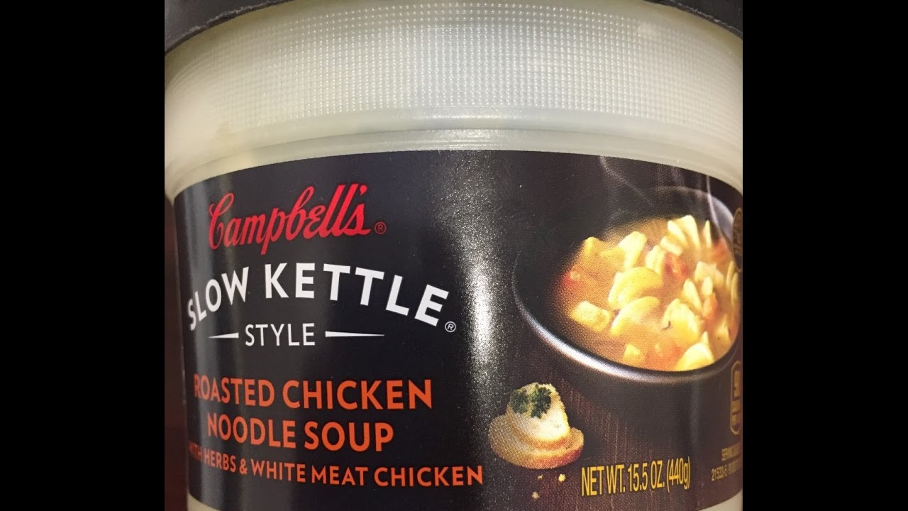 Deutsche Kuche Soup Campbell S Slow Kettle Style Roasted Chicken Noodle Soup Review