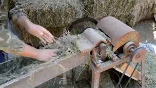 Изготовления травяной муки. Технология