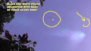UFO Orbs Swarm LAPD Chopper! 9-15-2015 (High Def 1080p)