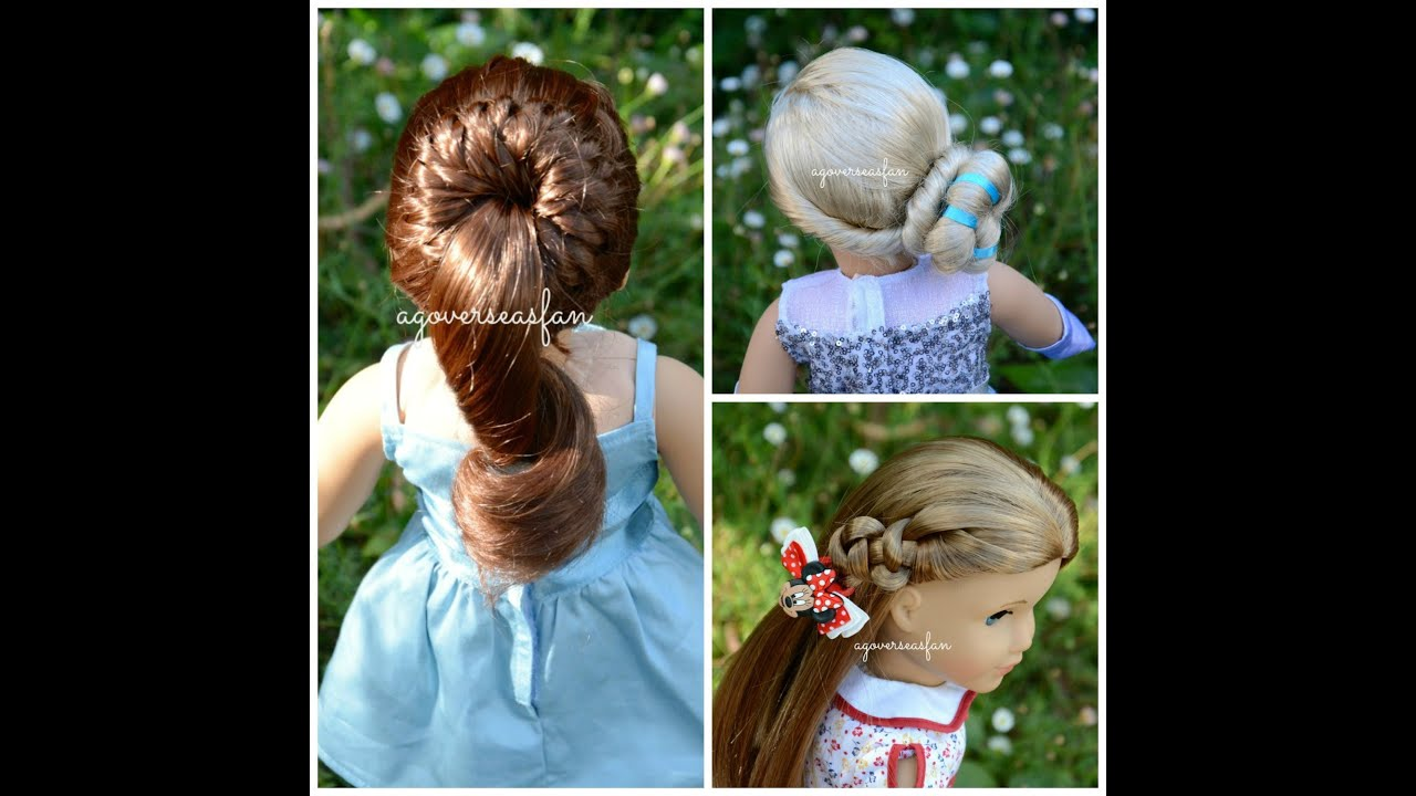 American Girl Doll Disney Frozen Elsa Hairstyle YouTube - Doll hairstyles for grace