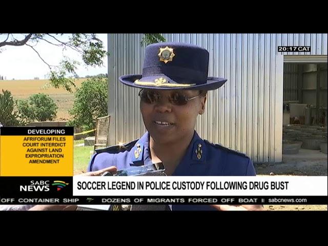 Soccer legend in arrested following drug bust