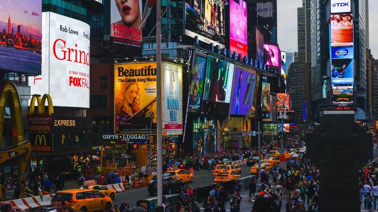 Times Square - Manhattan, New York HQ - YouTube