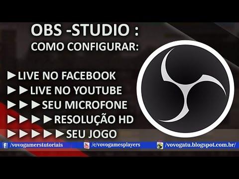 Como configurar o OBS STUDIO ( Open Broadcaster Software ) LIVES + GRAVAÇÂO