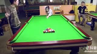 Tiktok Billiard trick shot