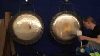 "Comparison of two 36"" Paiste Symphonic Gongs - Gongs Unlimited"