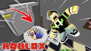 WE FELL INTO A GIANT TOILET IN THE ROBLOX