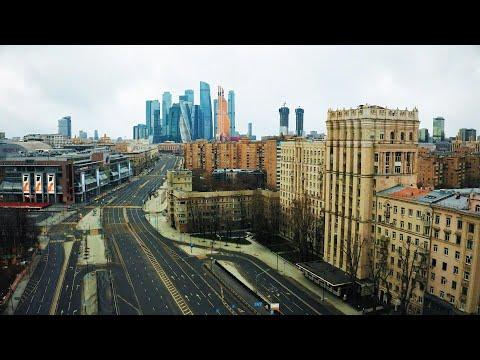 Coronavirus en Russie: images de drone de Moscou pendant le confinement | AFP