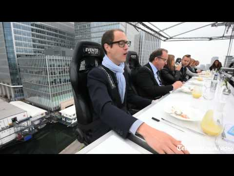 Dinner on a crane 100ft in the air - London in the Sky