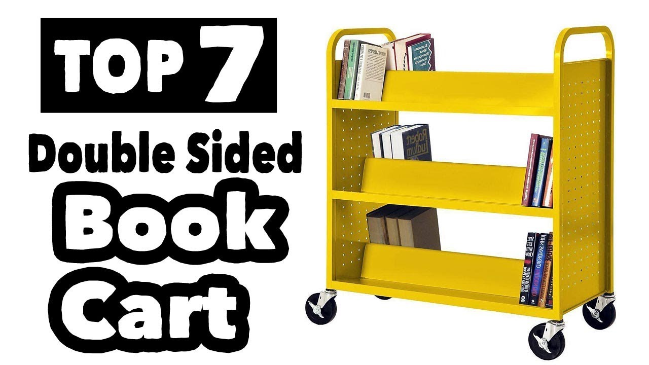 7 Best Double Sided Book Cart On Wheels Youtube