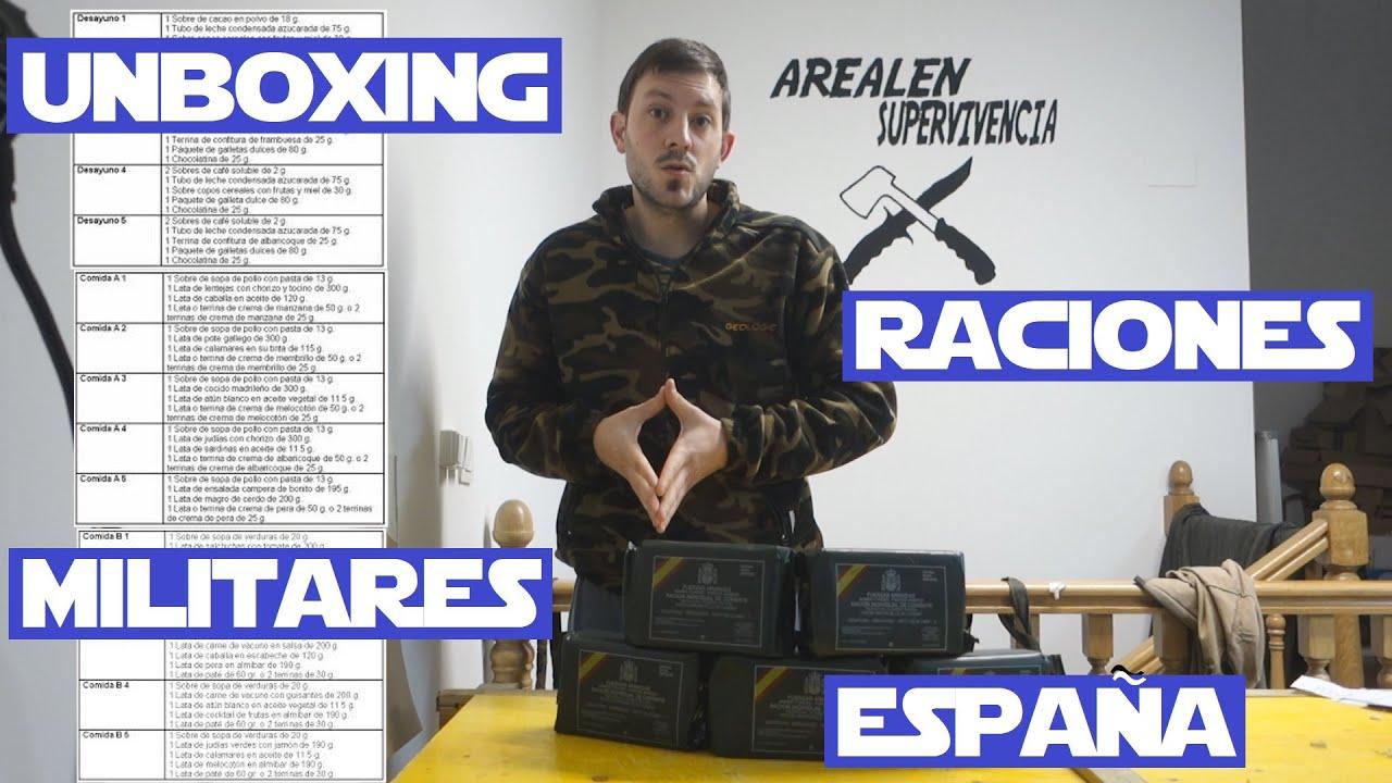 Unboxing raciones ejercito tu eliges