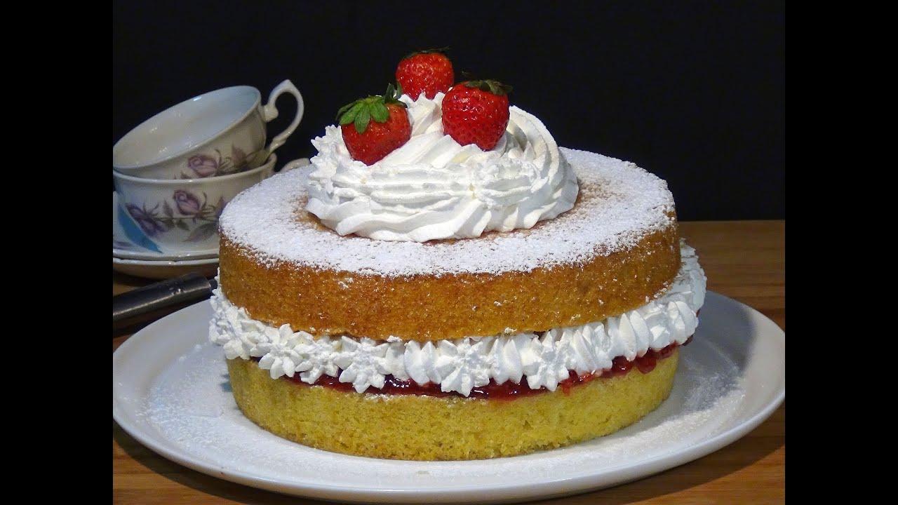 Receta Tarta Victoria (Victoria sponge cake) - Recetas de cocina, paso a paso, tutorial