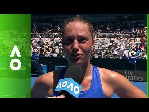 Kateryna Bondarenko on court interview (2R)   Australian Open 2018