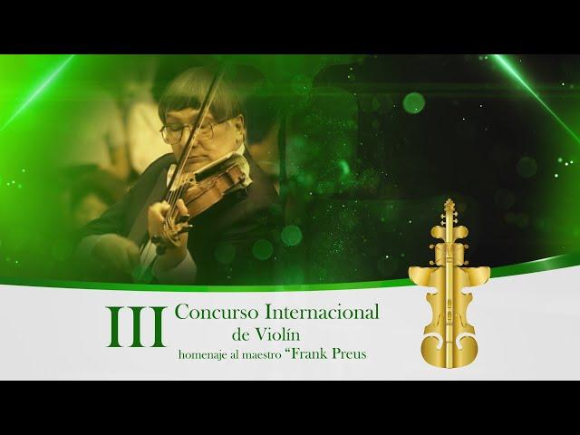 Promocional III Concurso Internacional de Violín homenaje al maestro