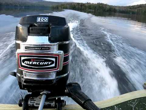 1971 mercury 20 hp outboard motor youtube for Mercury 4 hp boat motor