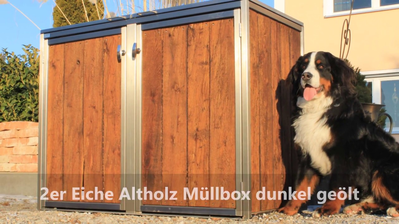 Mulltonnenbox Holz Hochwertig Mit Schonem Design Youtube