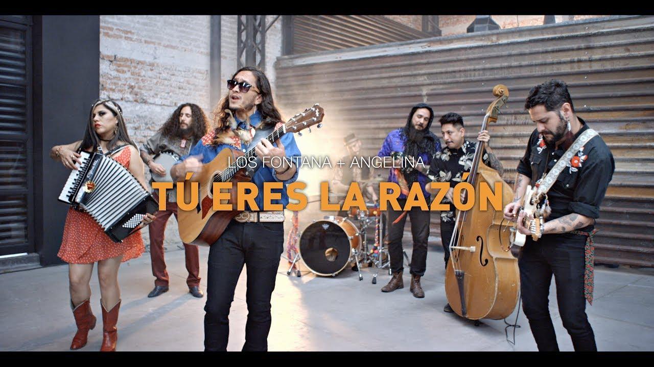 Tú Eres La Razón Los Fontana Ft Angelina Youtube