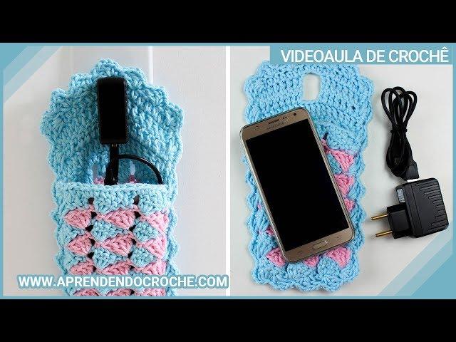 Porta Carregador de Celular em Crochê - Aprendendo Croche