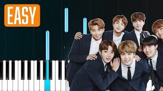 BTS - The Truth Untold (전하지 못한 진심) Ft. Steve Aoki (EASY) 100% EASY PIANO TUTORIAL
