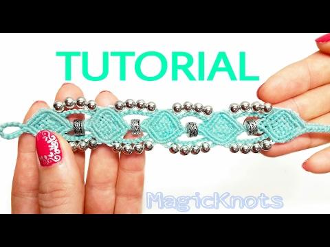e44b2263a8bb Macrame Tutorial Bracelet : Frozen - YouTube