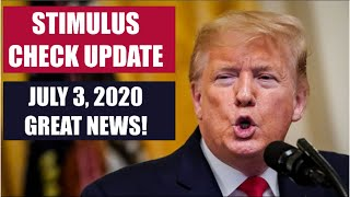 SECOND STIMULUS CHECK UPDATE TODAY | JULY 3 UPDATE FOR 2ND STIMULUS CHECK (STIMULUS PACKAGE)