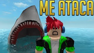 A TIBURON TRIES TO EAT ME!! 😱 - Morsure de requin - ROBLOX