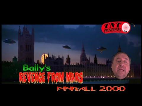 #828 Bally REVENGE FROM MARS Pinball 2000-Watch Mars Attack! TNT Amusements