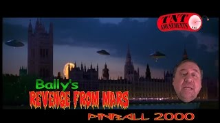 Bally REVENGE FROM MARS Pinball 2000-Watch Mars Attacks! TNT Amusements