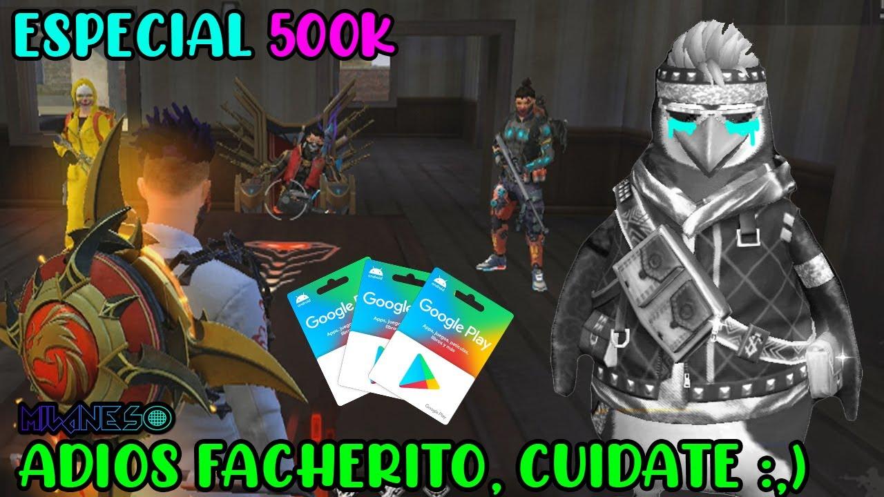 ¡ADIOS FACHERITO! ESPECIAL 500,000 SUSCRIPTORES - EL RESCATE DE FACHERITO - FREE FIRE RANDOM
