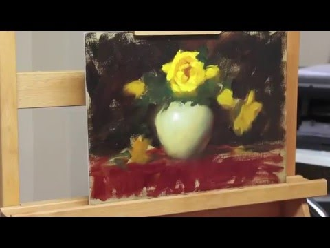 Painting Yellow Roses by Elizabeth Robbins