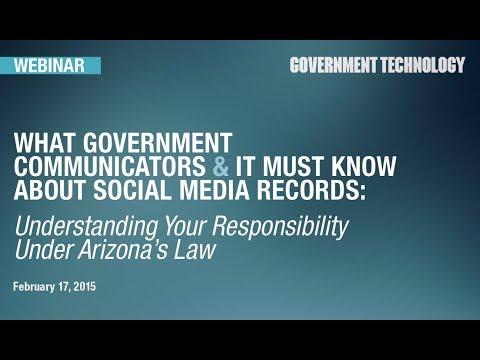 Social Media is a Public Record in Arizona [Webinar]