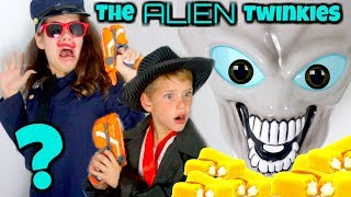 Alien Abduction vs Detective Donut THE COUNTERFEIT TWINKIES CASE Hope & Noah SuperHeroKids SHK Comic