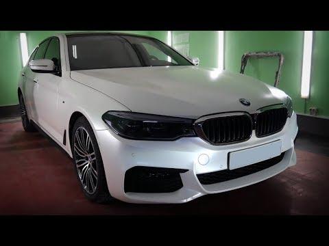 Автовинил | Полная оклейка BMW 5 в белый сатин | Lady Democars