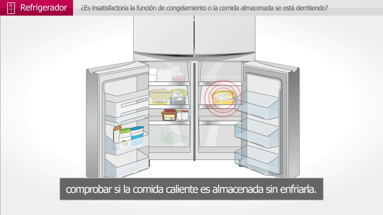 Refrigerador lg inverter no congela