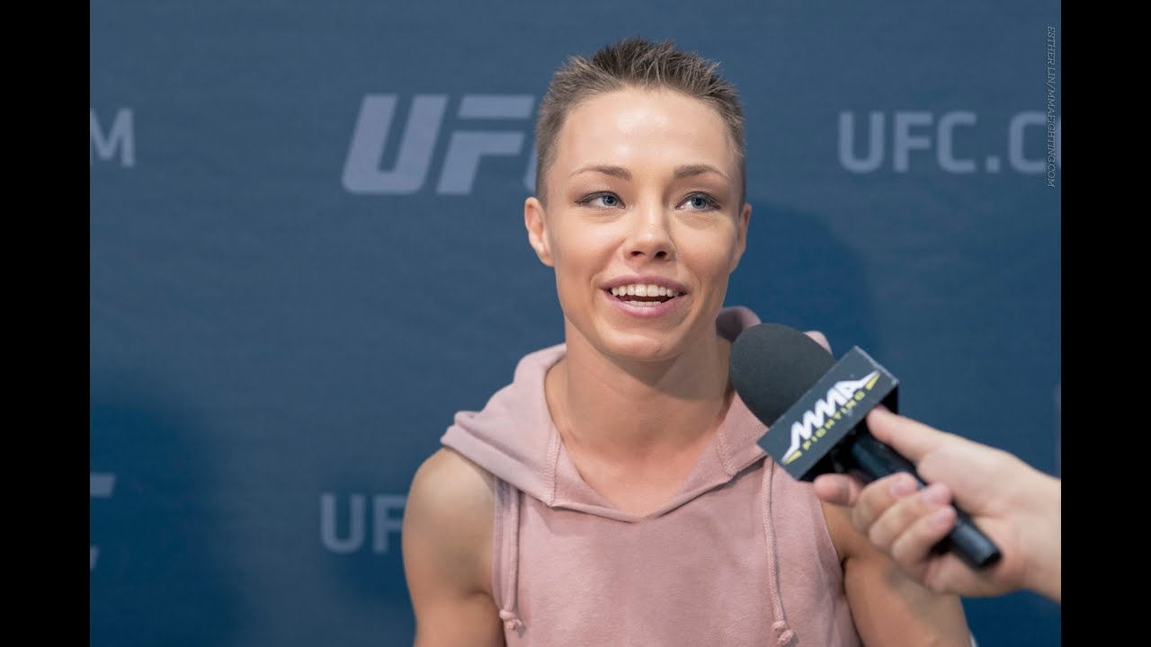 Ufc 201 Rose Namajunas Explains Why Pat Barry Won T Be In Her