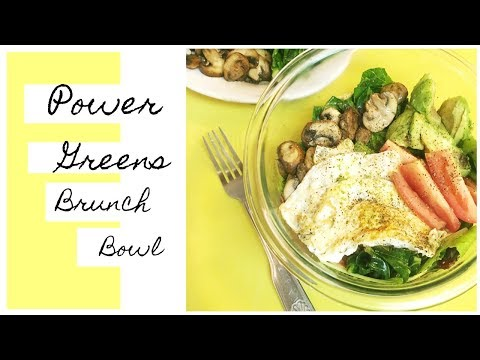 Power Greens Breakfast Bowl Healthy + Savory Brunch Whole Food Recipe