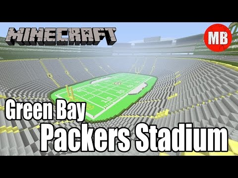 Minecraft NFL Green Bay Packers Stadium | Lambeau Field