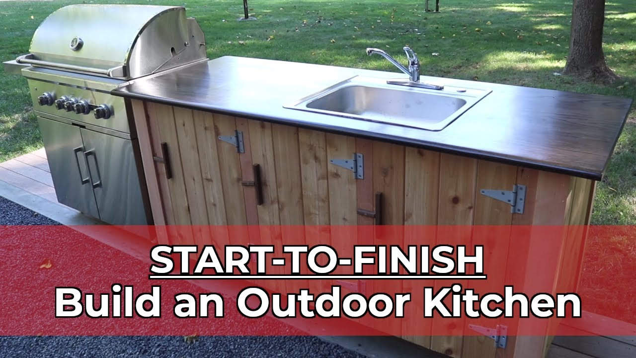 how to build an outdoor kitchen start to finish