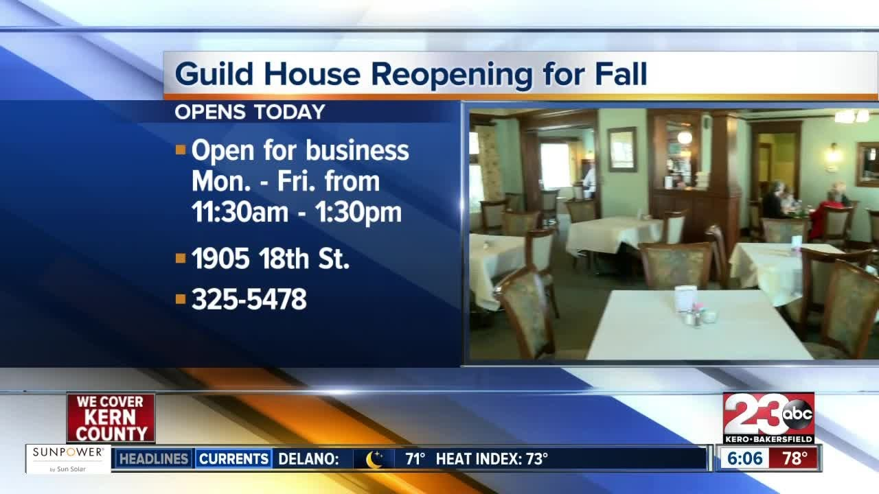 The Guild House Restaurant is reopening for the fall season