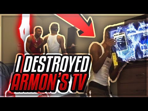 I DESTROYED AR'MON'S TV!! (GETS VERY ANGRY)