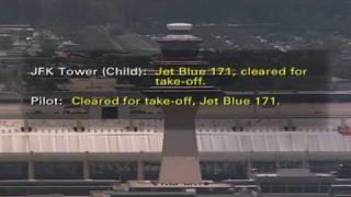 Kid directs jets at JFK