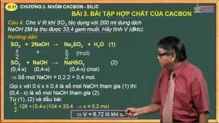 Hóa học 11 - Chương 3. Nhóm cacbon, silic - Bài 3. Bài tập hợp chất của cacbon