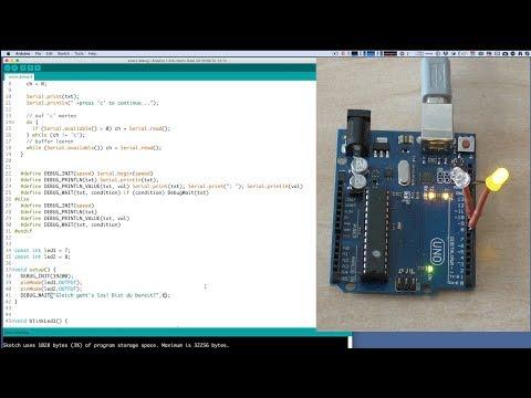 Debugging in der Arduino IDE