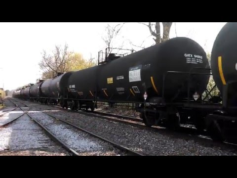 Vermont Railway freight leaves Burlington Yard.